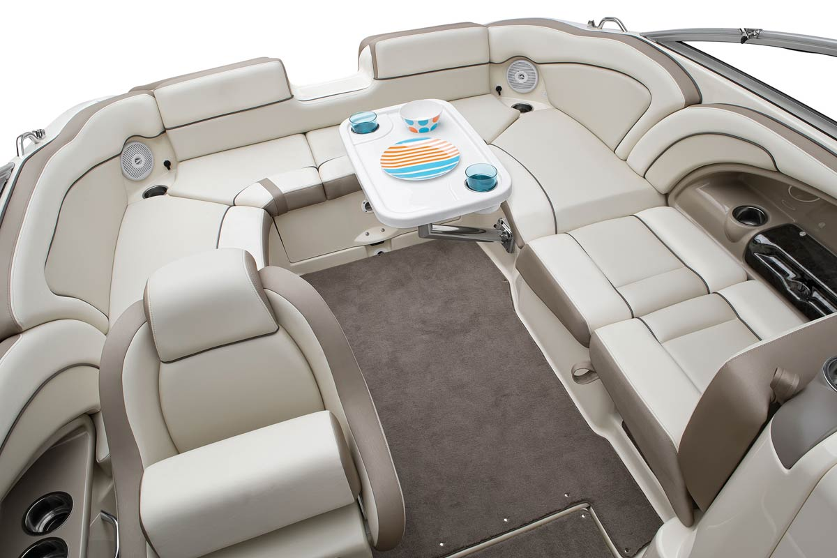 Picture of seating area of jetboat.