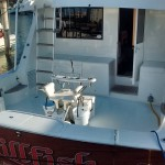 Picture of Billfish cockpit for fishing with fighting chair.