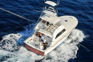 Picture of sportfisher Billfish trolling for marlin.